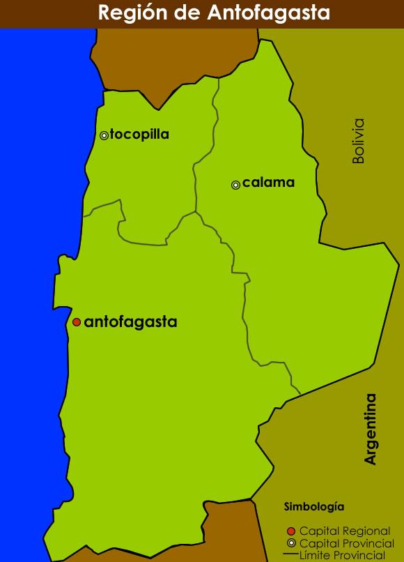 Mapa Región de Antofagasta