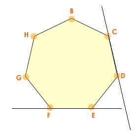 Figura: Heptágono, polígono de 7 lados